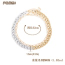 geometric alloy exaggerated doublelayer necklace  NHJQ283089