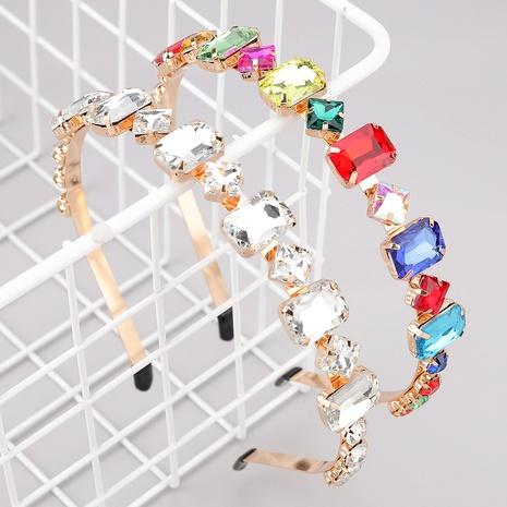 diadema de cristal cuadrada con incrustaciones de diamantes de aleación NHJE283110's discount tags