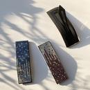 geometric  retro diamondstudded fashion black word clip  NHWF283117