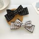 white grid bow Korean fashion hair clip  NHWF283120