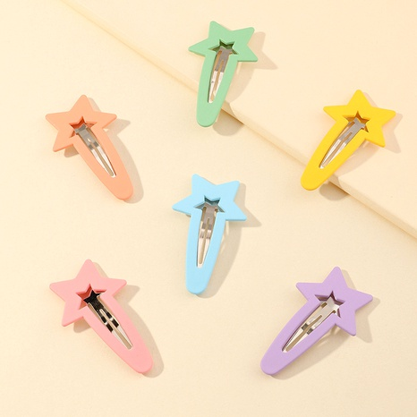 five-pointed star frosted hairpin 6-piece set NHNU283121's discount tags