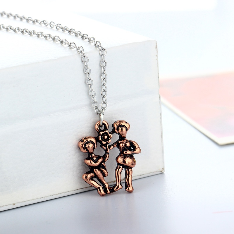retro simple  necklace  NHAN283139