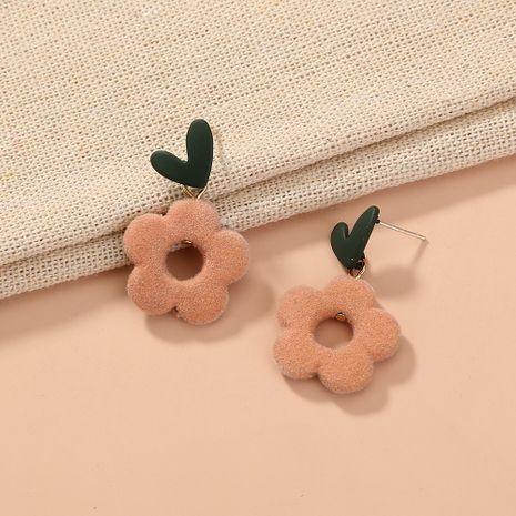 boucles d'oreilles pendantes en forme de fleur rose coeur noir NHAN283148's discount tags