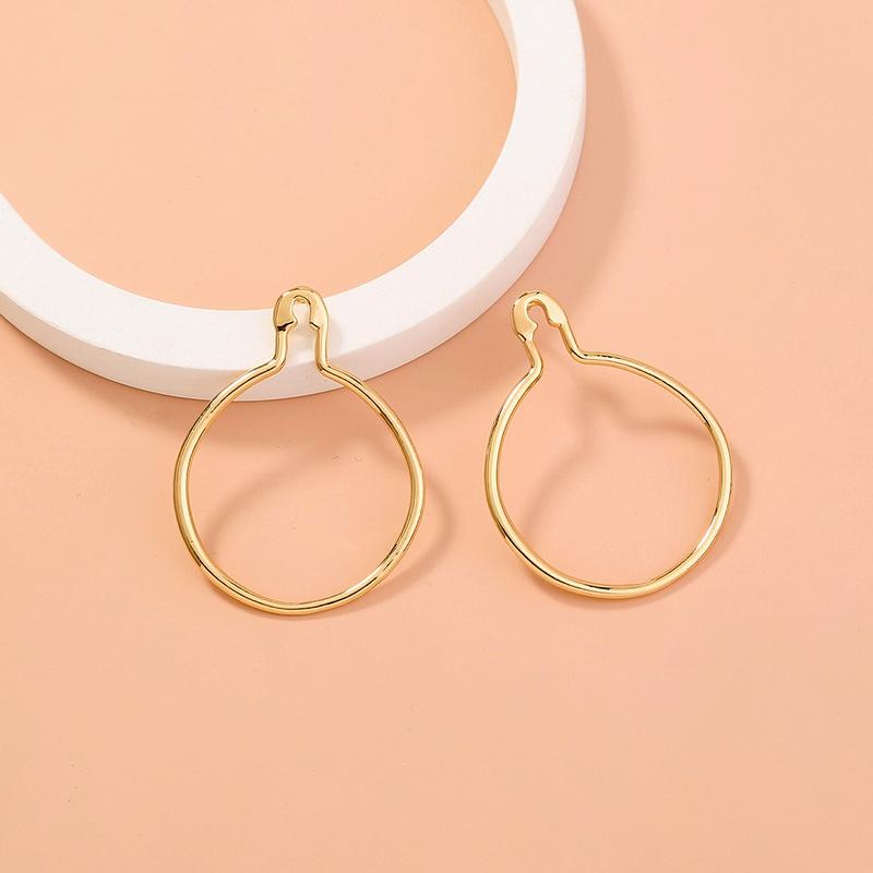 retro fashion pin round earrings NHAN283155
