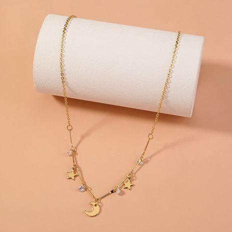 collier ras du cou créative simple étoile lune NHAN283157's discount tags