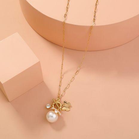 collier de papillon de perles de boucle OT sauvage de chaîne de treillis de mode simple NHAN283162's discount tags
