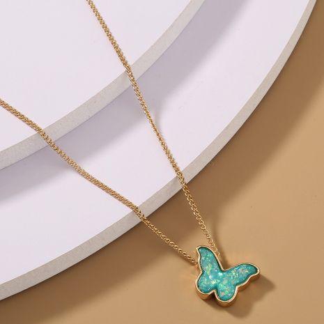 collier papillon simple en résine verte NHAN283165's discount tags