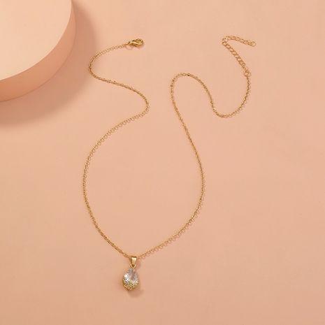 collier à pendentif zircon goutte d'eau simple NHAN283166's discount tags