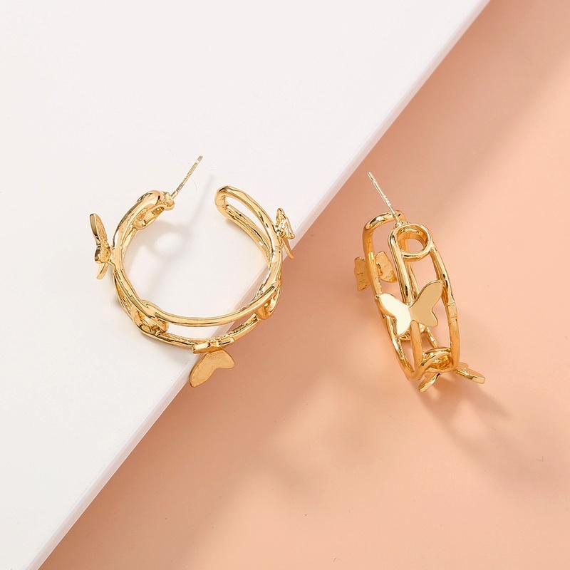 fashion double C butterfly earrings  NHAN283168