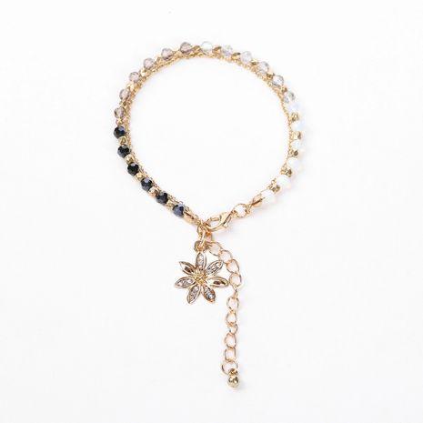 bracelet de fleur en alliage de perles de cristal de verre multicolore NHOA283172's discount tags
