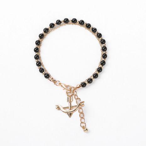 bracelet d'ancre en alliage de perles de cristal multicolore NHOA283183's discount tags