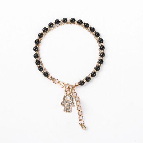 bracelet en alliage de perles de cristal de verre multicolore NHOA283185's discount tags