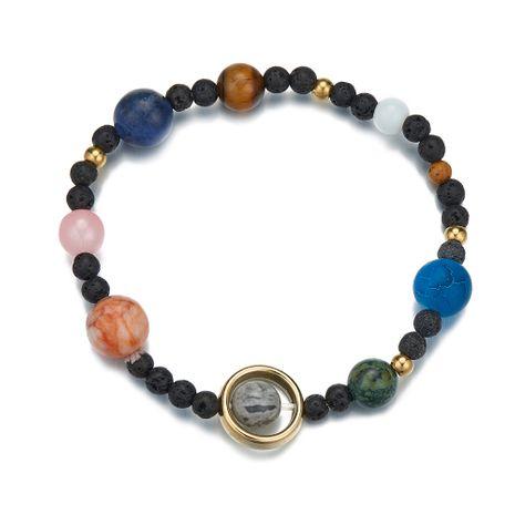 bracelet élastique en perles de pierre naturelle du système solaire galaxie NHOA283187's discount tags