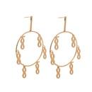 leaf heart alloy large round earrings  NHOA283192