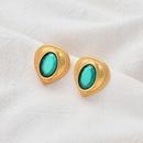 baroque alloy retro heart pearl earrings wholesale NHOA283200