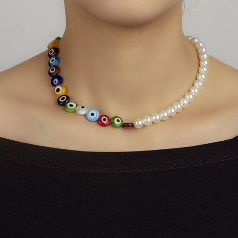 nouveau collier de perles yeux du diable NHRN283210's discount tags