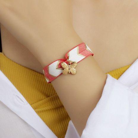 bracelet élastique papillon en tissu NHRN283211's discount tags