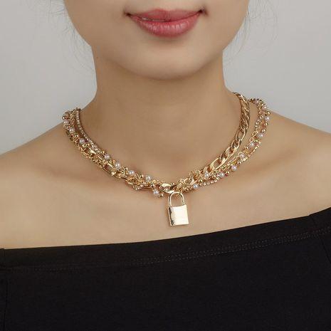 nouveau collier de perles tissées main hip-hop NHRN283214's discount tags