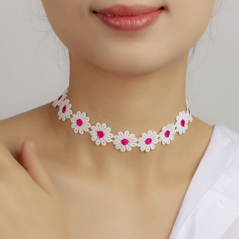 nouveau collier de fleurs en dentelle NHRN283208's discount tags