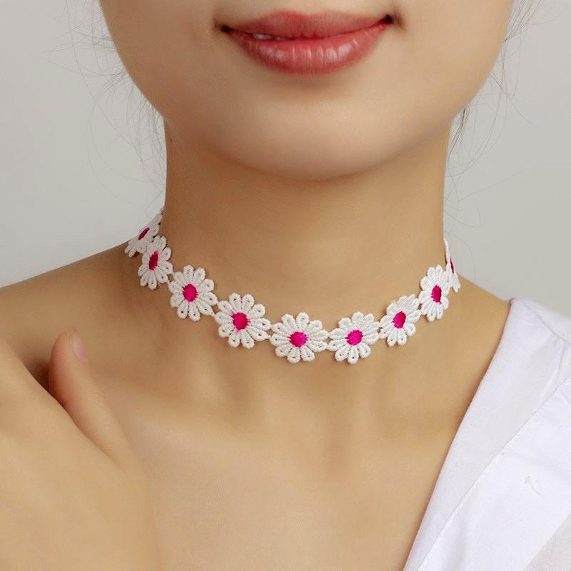 nouveau collier de fleurs en dentelle NHRN283208