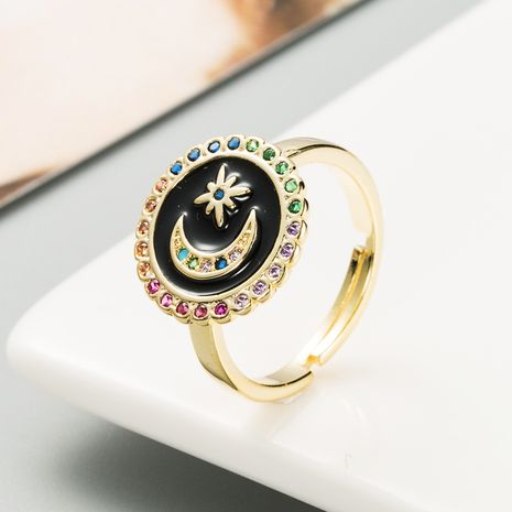 hot-selling  star  moon opening ring  NHLN283254's discount tags