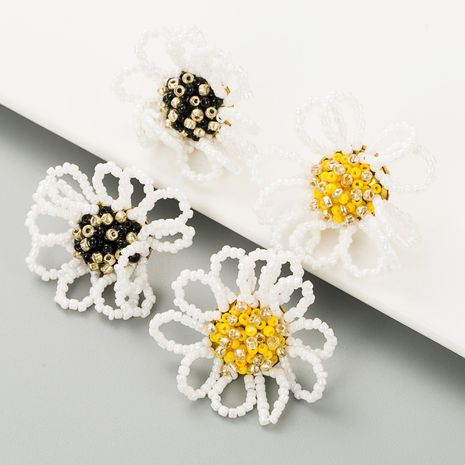 retro rice beads flower earrings  NHLN283259's discount tags