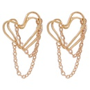irregular tassel fashion punk heartshaped retro earrings NHMD283283