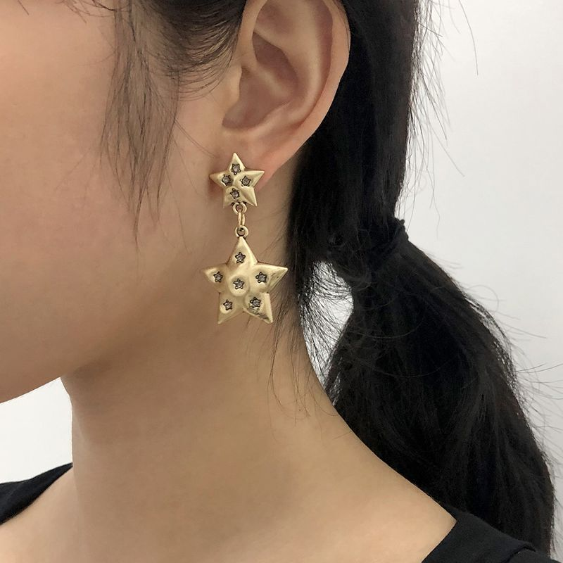 five-pointed star diamond earrings  NHMD283291