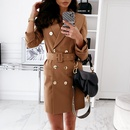 womens  longsleeved solid color sexy suit dress jacket NHUO284556