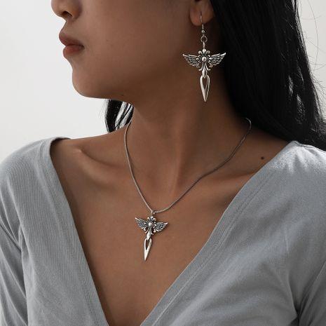 ensemble de collier de boucles d'oreilles croix de mode rétro simple NHXR283303's discount tags