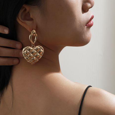 retro heart-shaped fashion irregular earrings NHXR283306's discount tags