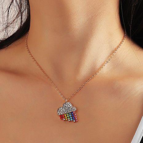 Collier de pluie arc-en-ciel en diamant à la mode NHNZ283321's discount tags
