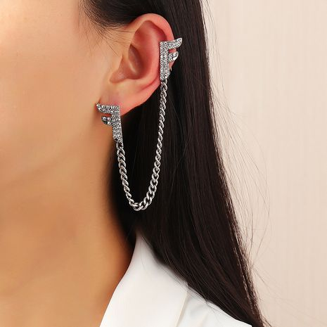 Fashion Simple Tassel Letter Earring  NHNZ283323's discount tags
