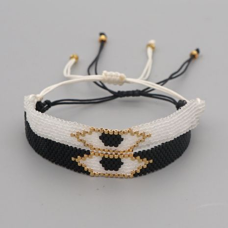fashion hand-woven beaded evil eye bracelet NHGW283342's discount tags