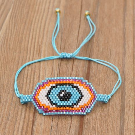 einfaches böhmisch blaues Augenperlenarmband NHGW283344's discount tags