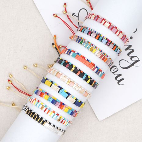 Bracelet en perles de verre rétro bohème NHGW283345's discount tags