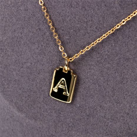 Fashion Square 26 English Letter Pendant Necklace  NHPY283354's discount tags