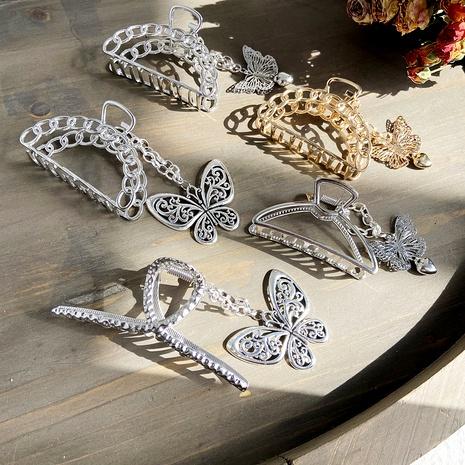 butterfly heart pendant hair clip NHPJ283360's discount tags