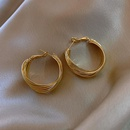 Large hoop exquisite gold earrings NHXI283384