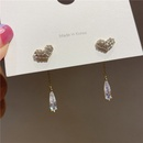 925 silver needles rhinestones long tassels earrings NHXI283388