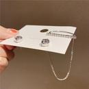 asymmetric silver needle earrings NHXI283389