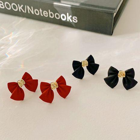 S925 boucles d'oreilles arc rouge noir aiguille argent NHXI283400's discount tags