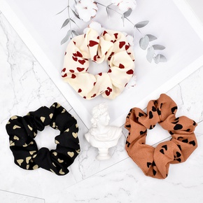 Korean fashion  peach heart hair scrunchies  NHCL283409