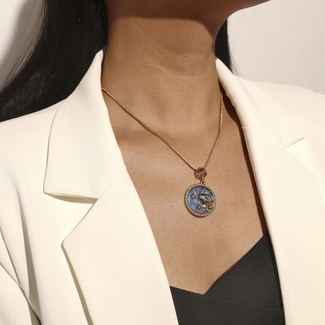 Twelve Constellation Aries Blue Wild Necklace  NHKQ283425's discount tags