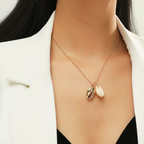 new  simple fashion shell necklace NHKQ283442's discount tags