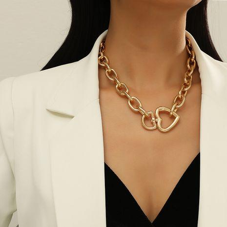 Collier de clavicule à chaîne épaisse en métal de mode simple NHKQ283443's discount tags