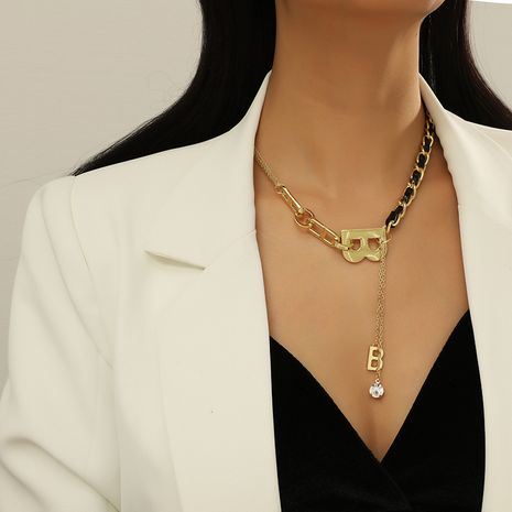 Fashion  fashion simple trend new B letter tassel necklace NHKQ283451's discount tags
