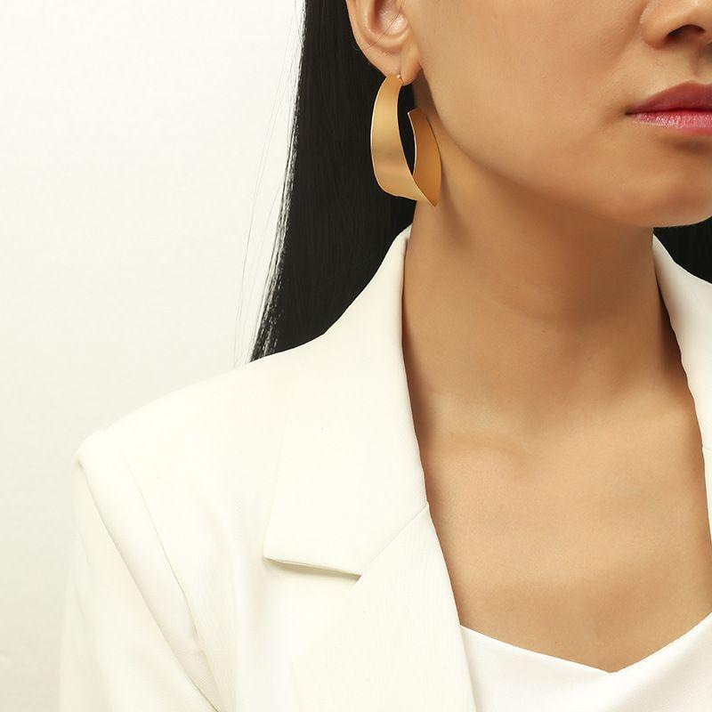 metal fashion C-shaped earrings NHKQ283455