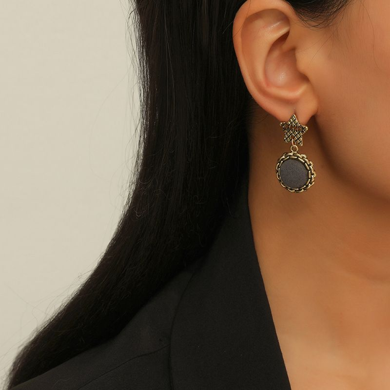 Simple fashion retro five-pointed star earrings NHKQ283460