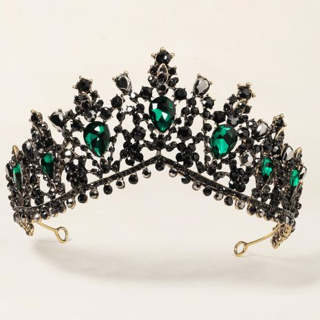 rhinestone wedding baroque black retro big crown NHHS283478's discount tags